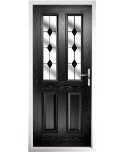 Black front door.