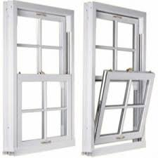 Sash and case white windows.